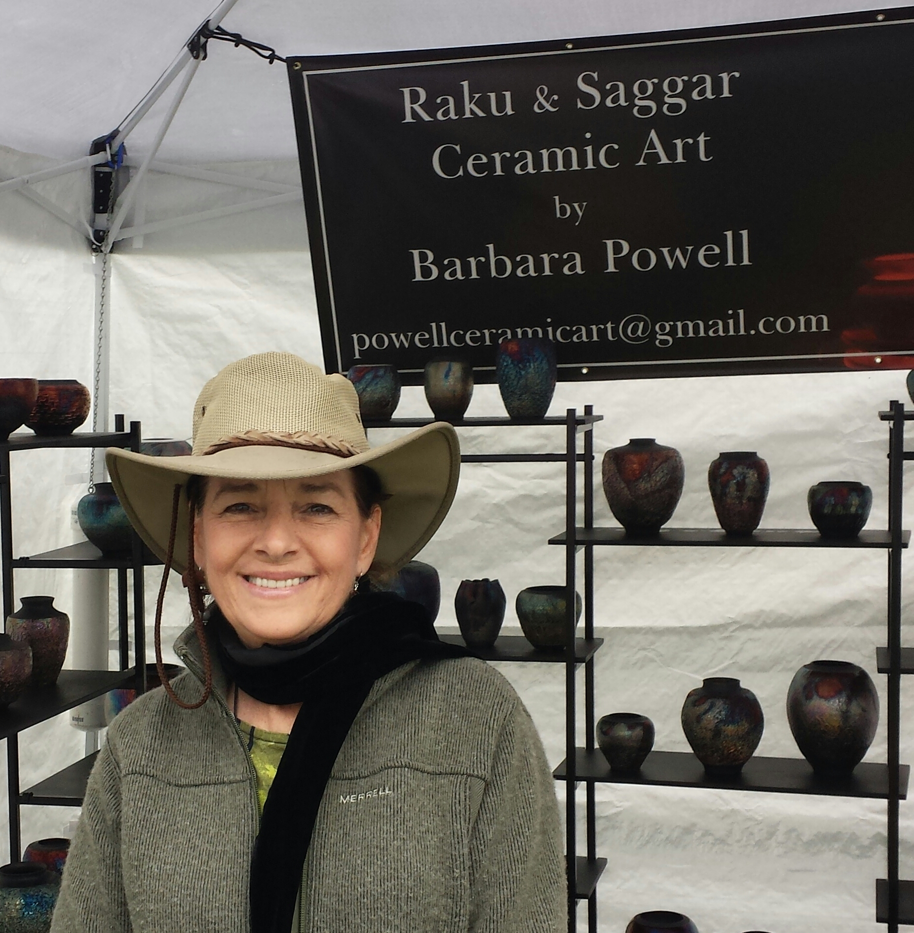 #3 Barbara Powell — Ceramic Artist Specializing in Raku and Saggar Pottery
