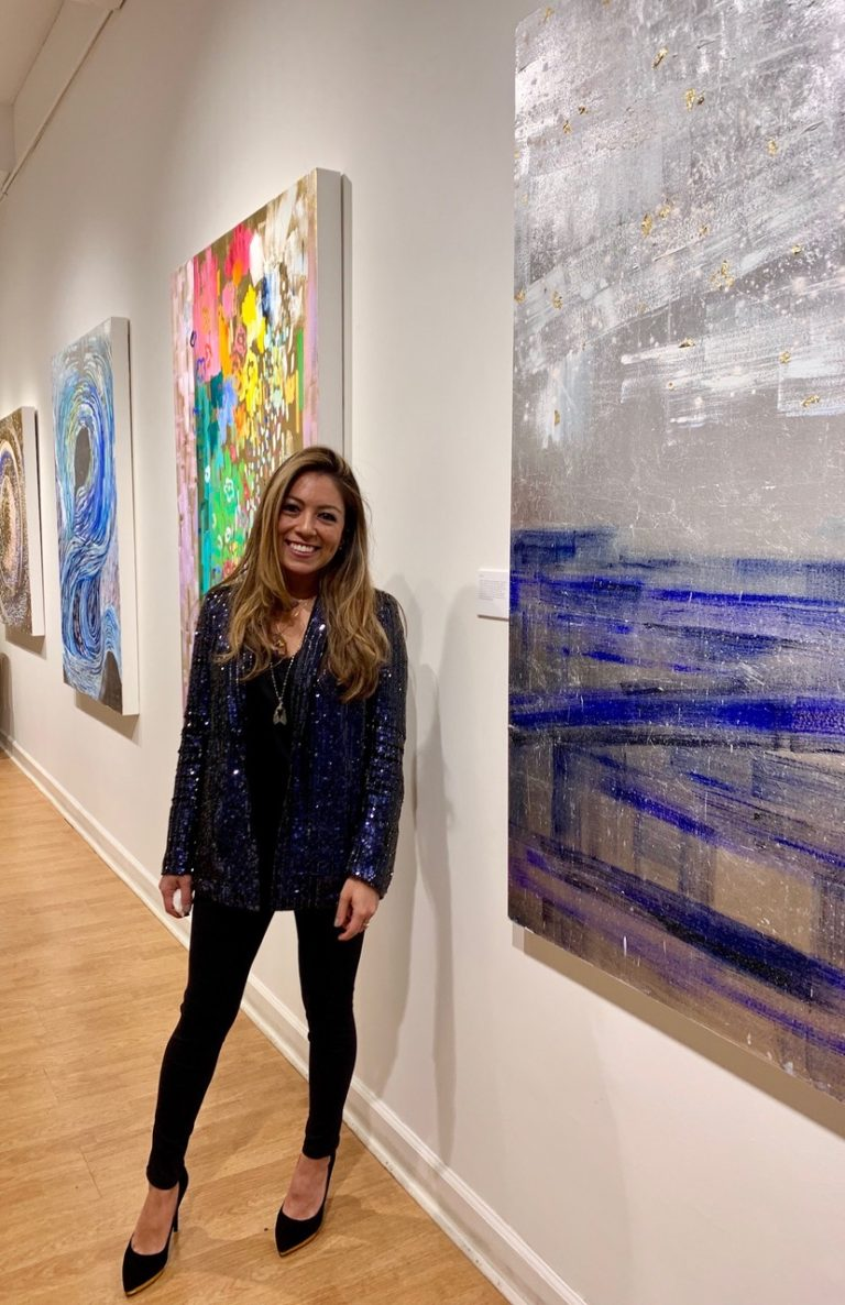 #144 Michelle Sakhai: Abstract Artist Using Metal Leafing and Oils
