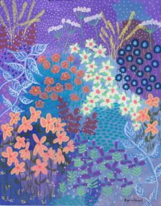 Flower painting by Suzanne Redmond