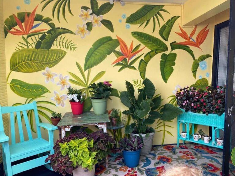 Flower mural on house by Craig McInnis