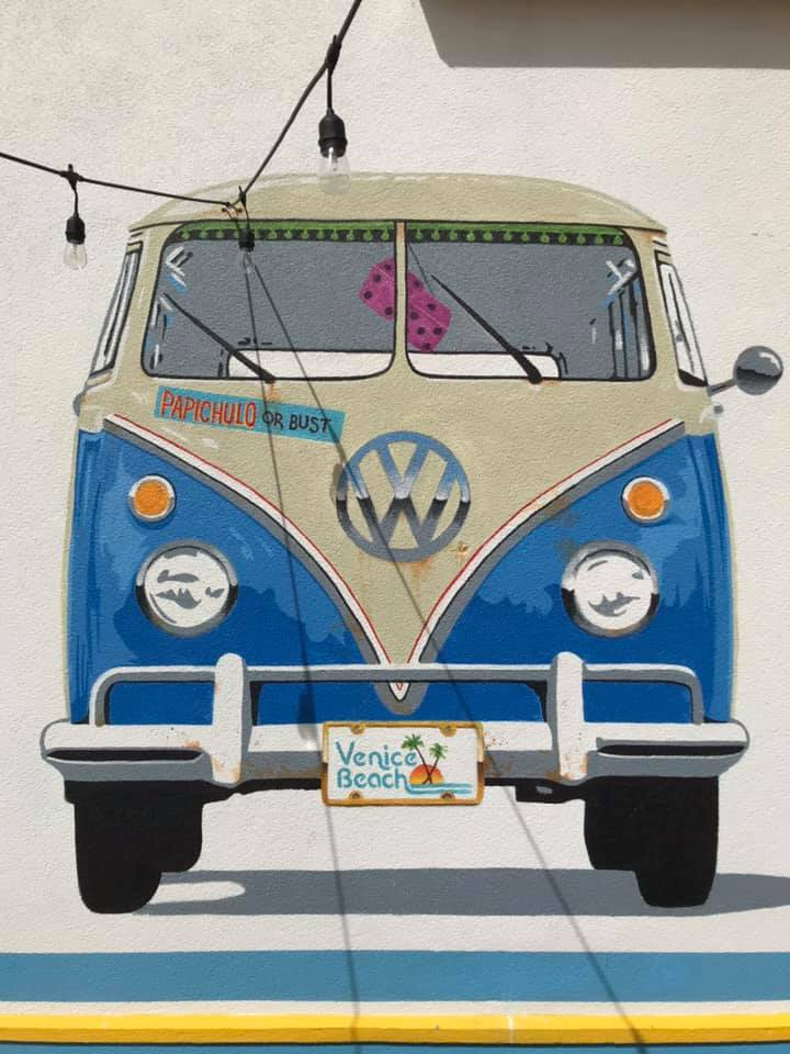 Mural of a VW van by Craig McInnis