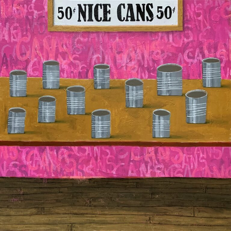 Cans painting by Gabe Langholtz
