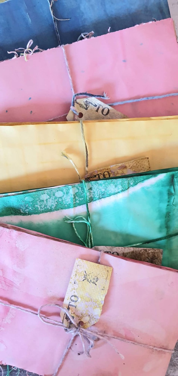 Dyed paper by Liz Constable
