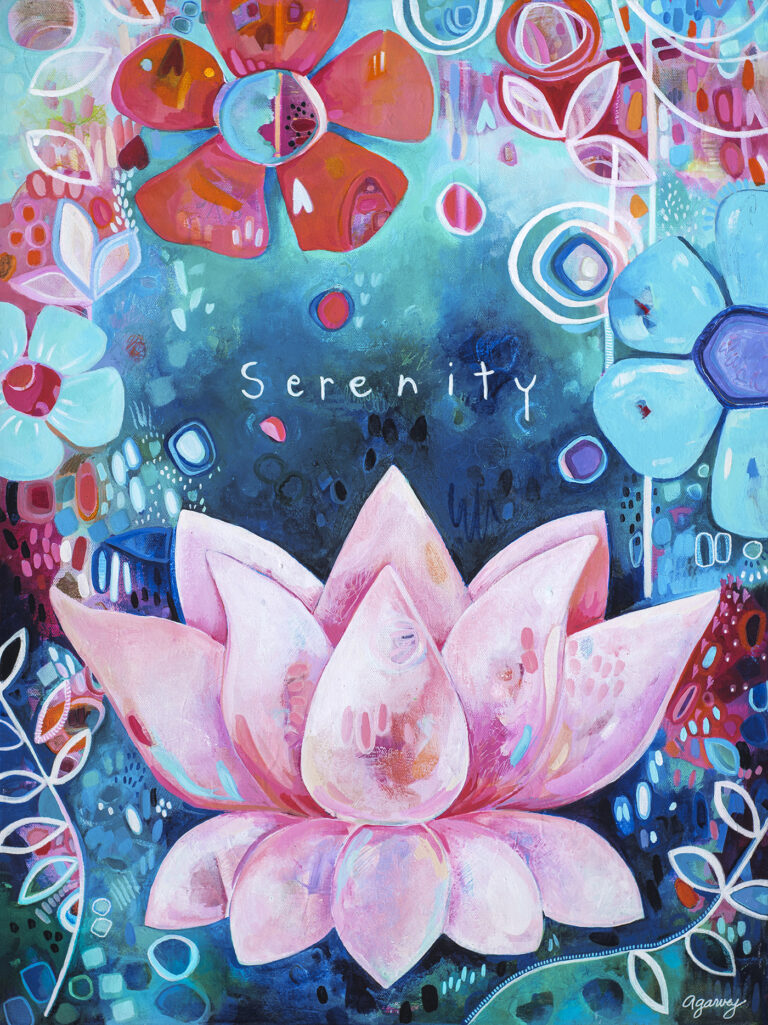 Serenity painting by Andrea Garvey