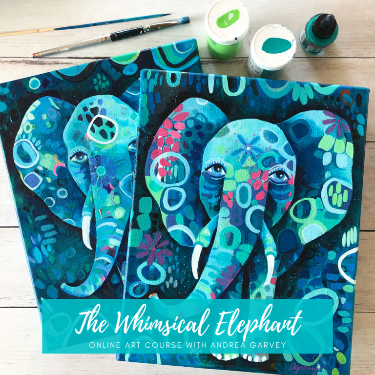 The Whimsical Elephant online class by Andrea Garvey