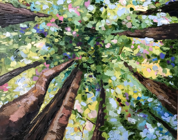 Painting of trees by Brittany Soucy
