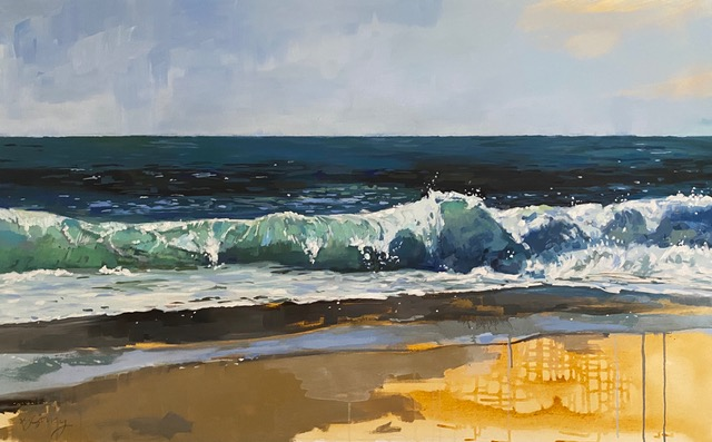 Painting of the beach by Brittany Soucy