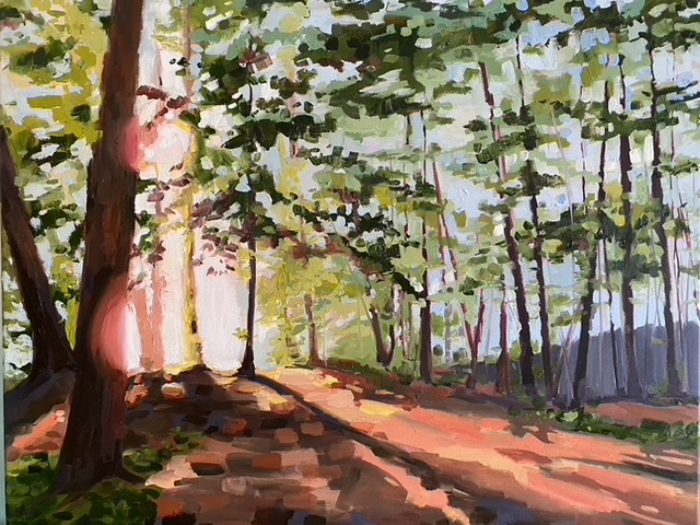 Painting of a forest by Brittany Soucy
