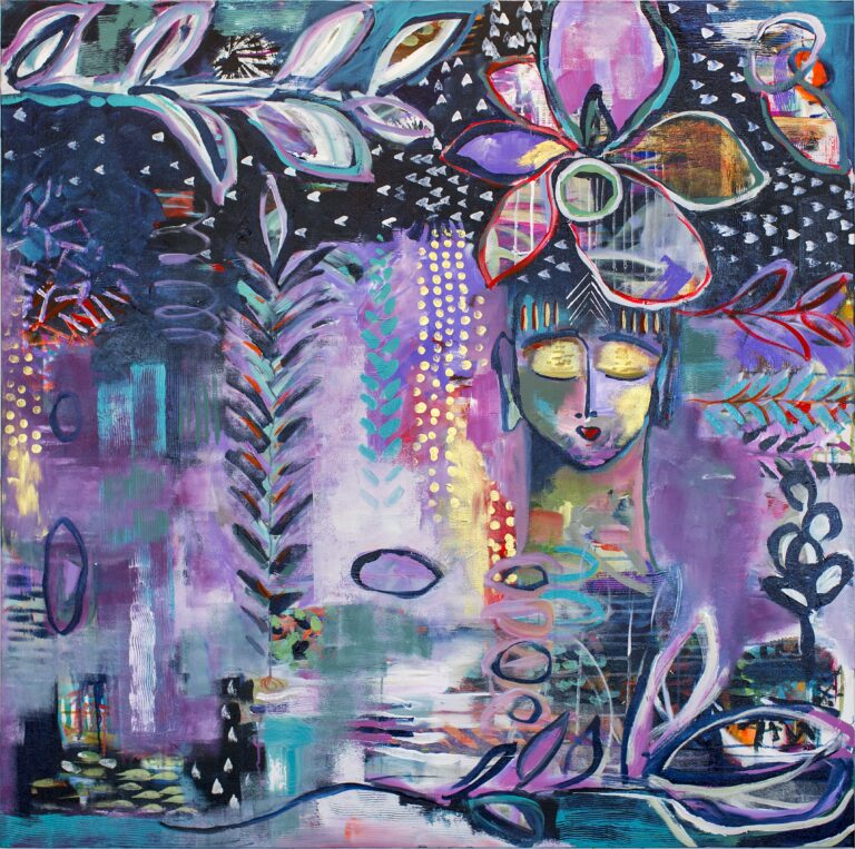 Winterwash painting by Flora Bowley