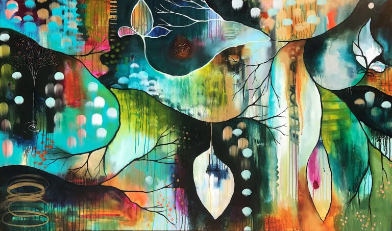 Flora Bowley painting