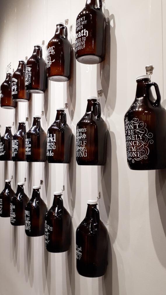 Hand lettered bottles