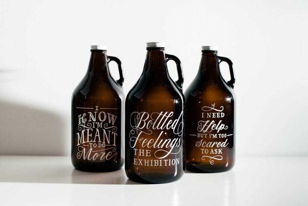 Hand lettered bottled