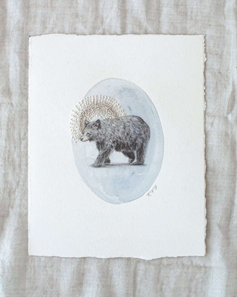 Bear illustration by Kara Valentino Ffield