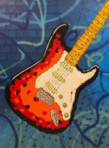 Guitar painting